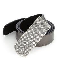 Giuseppe Zanotti | Crystal-buckle Leather Belt | Lyst