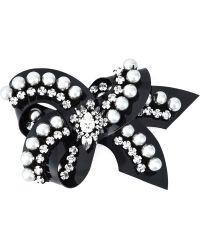 Shourouk - 'bow' Pearl Brooch - Lyst