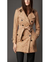 Burberry English Floral Lace Trench Coat - Lyst