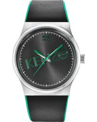 Kenzo Unisex Stainless Steel and Leather Tiger Watch - Lyst