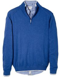 Mango Elbow Patch Wool Blend Sweater - Lyst