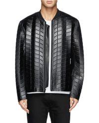 Alexander Wang Bonded Neoprene Leather Bomber Jacket - Lyst
