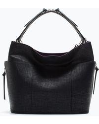 Zara Zip Handle Bucket Bag - Lyst
