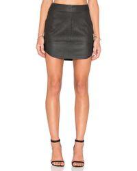 Fifteen Twenty | Contrast Leather Skirt | Lyst