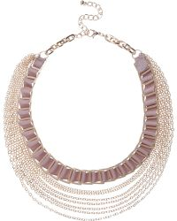River Island | Gold Tone Luxe Woven Chain Necklace | Lyst