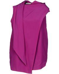 Celine Purple Top - Lyst