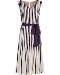 Jacques Vert Banded Chiffon Flared Dress - Lyst