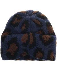 Tak.ori - Cortina Leopard Knit Beanie - Lyst