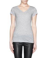 Vince 'Little Boy' Pima Cotton-Modal T-Shirt gray - Lyst
