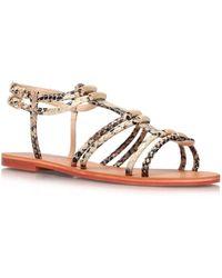 Carvela Kurt Geiger Kit Flat Sandals - Lyst