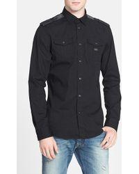 Diesel 'Koir' Extra Trim Fit Stretch Woven Shirt black - Lyst