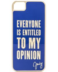Juicy Couture - Everyone Is Entitled Iphone 5 Case in Navy - Lyst