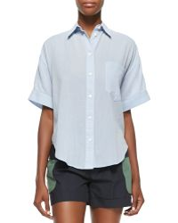 Band of Outsiders - Short-Sleeve Grandpa Cotton Shirt - Lyst