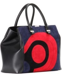 Victoria Beckham - Liberty Leather and Suede Tote - Lyst