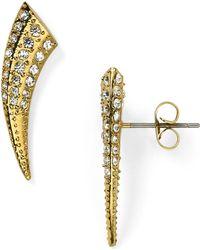 Rebecca Minkoff Tusk Shaped Stud Earrings - Lyst