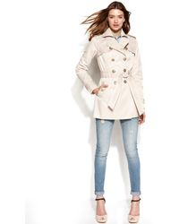 Jessica Simpson - Doublebreasted Lacetrim Trench Coat - Lyst