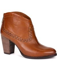 Ugg Charlotte Leather Ankle Boots - Lyst