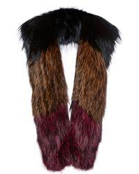 Sonia Rykiel Multicolor Fox Knitted Scarf - Lyst
