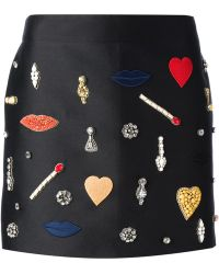 Stella McCartney Embellished Skirt - Lyst