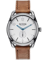 Nixon   'the C39 Leather' Watch   Lyst