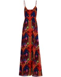 Mara Hoffman Long Dress red - Lyst