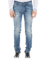 Dolce & Gabbana Distressed Slim-Fit Jeans - Lyst