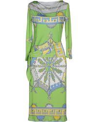 Emilio Pucci Knee-Length Dress green - Lyst