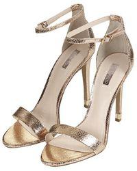 Topshop Ruby Metallic High Sandals - Lyst