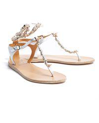 Ancient Greek Sandals Chrysso Metallic Beaded Sandal - Lyst