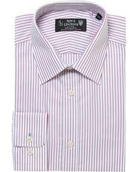New & Lingwood Chapel Thin Stripe Shirt pink - Lyst