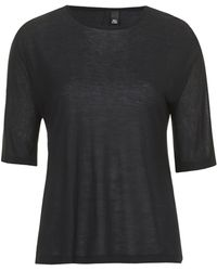 Topshop Seamless Cashmere Tee by Boutique - Black - Lyst