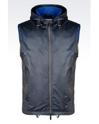 Armani Travel Essential Gilet With Technical Fabric - Lyst
