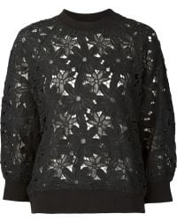 MIYAO - Floral Lace Top - Lyst