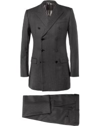 Dolce & Gabbana Charcoal Pinstripe Threepiece Wool Suit - Lyst