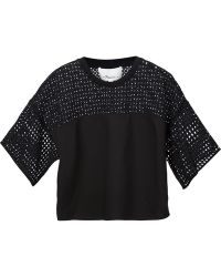 3.1 Phillip Lim Boxy Perforated Top - Lyst