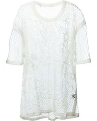 KTZ Embroidered Front Mesh Top - Lyst
