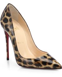 Christian Louboutin So Kate Leopard-print Patent Leather Pumps - Lyst