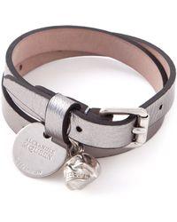 Alexander McQueen Double Wrap Skull Bracelet - Lyst