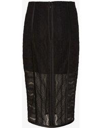Veronica Beard Pointelle Lace Pencil Skirt - Lyst