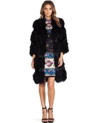 Anna Sui Kalgan Long Fur Jacket - Lyst