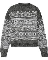 Alexander Wang Jacquard-knit Wool-blend Sweater - Lyst