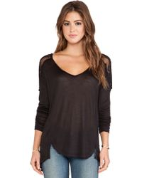 Free People The Gatsby Long Sleeve Tee - Lyst