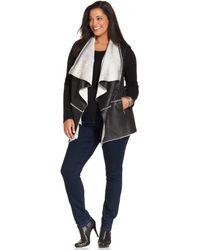 Jones New York Signature Plus Size Faux-shearling Vest - Lyst