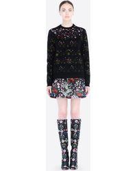 Valentino Wool Jacquard Knit - Lyst
