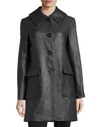 Max Studio Flocked Tweed Coat - Lyst