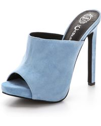 Jeffrey Campbell Roberts Suede Mules - Pale Blue - Lyst
