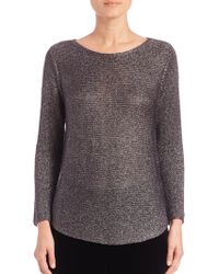 Eileen Fisher | Shimmer Chainete Top | Lyst