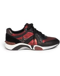 Ash Hendrix Leather Suede Sneakers - Lyst