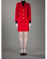 Christian Lacroix Red Skirt Suit - Lyst