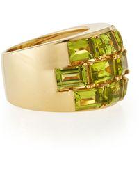 Poiray - 18k Yellow Gold Peridot Statement Ring - Lyst